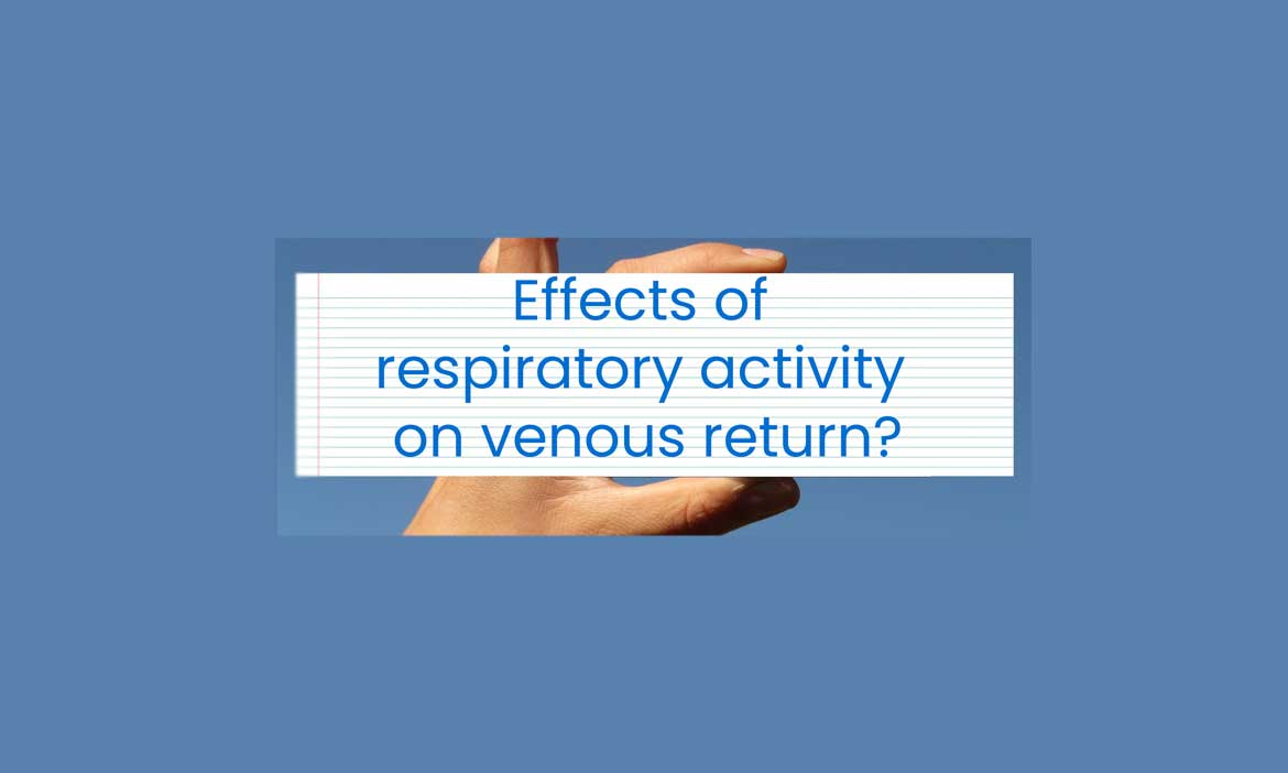 effects of respiratory activity on venous return