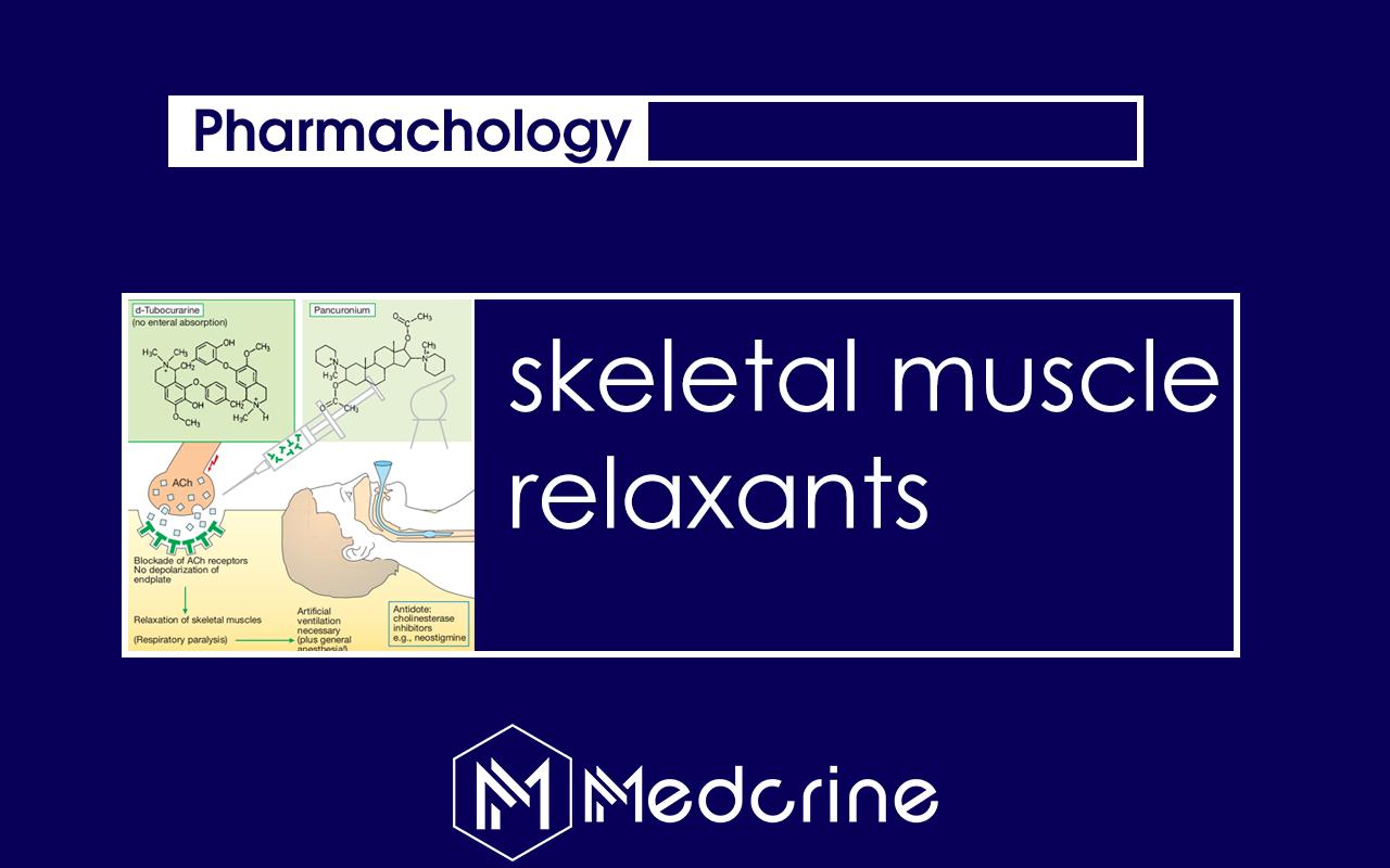 Skeletal Muscle Relaxants Pharmacology