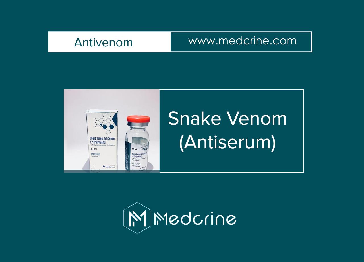 Snake Venom Antiserum (Lyophilised): Antivenom